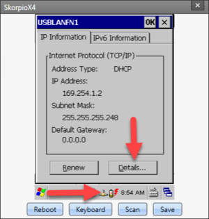 USBLAN IP Information Page