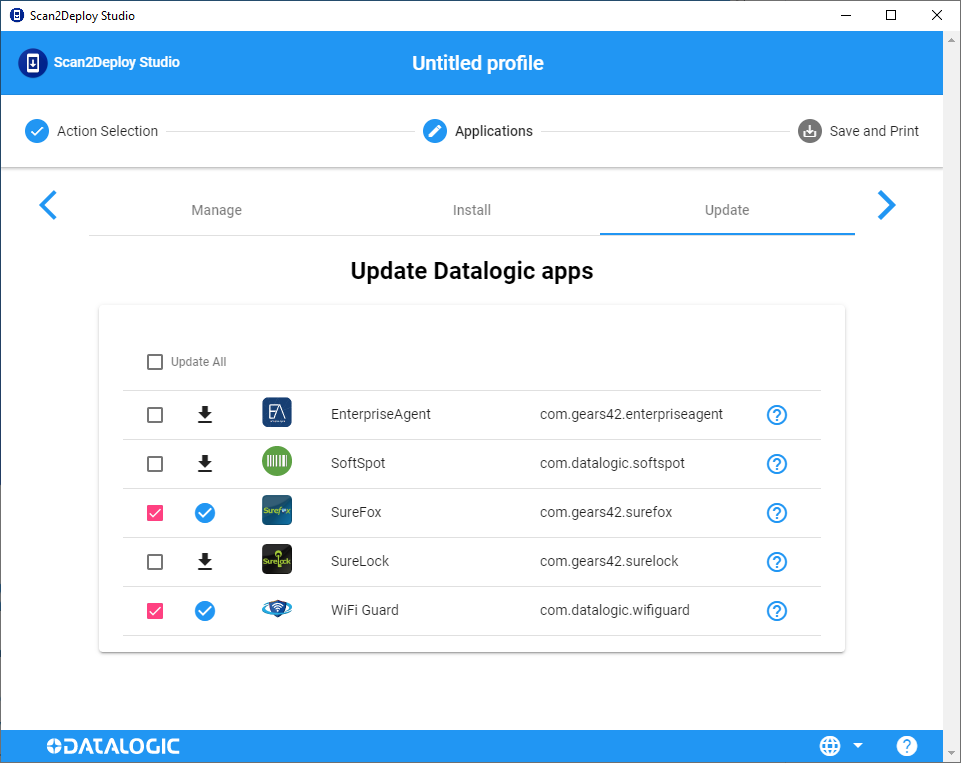 Datalogic Apps page